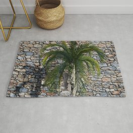 Palm Tree and Stone Rug