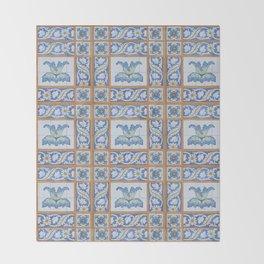 Vintage Art Nouveau Tiles Throw Blanket