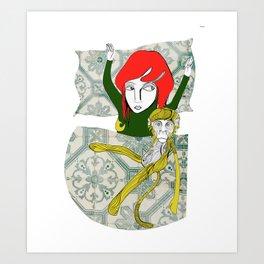 Tina&Ape Art Print
