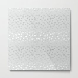 Hearts in grey Metal Print