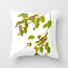 Carbonated Warbler Bird Throw Pillow