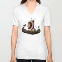 vikings V-neck T-shirts featuring Vikings by mangulica