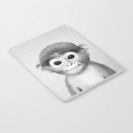 Baby Monkey - Black & White Notebook