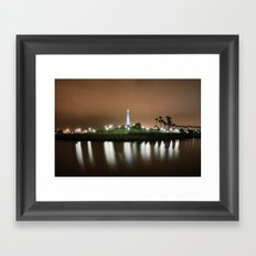 The Light of Long Beach Framed Art Print