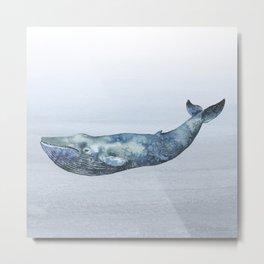 Deep Sea Whale Metal Print