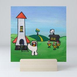 The Chicken Space Program: Part 1 Mini Art Print