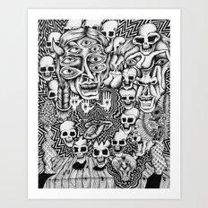 Third Eye Skull Progression Art Print