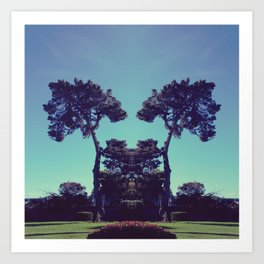 ink blot tree  Art Print