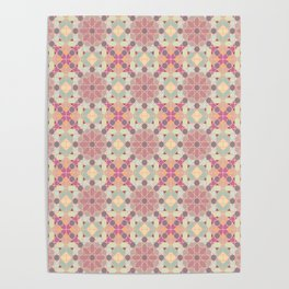 modern arabic pattern in pastel colors Poster