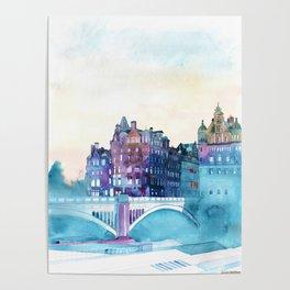 Winter in Edinburgh Poster
