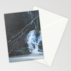 Emerging waterfall after the flood Stationery Cards