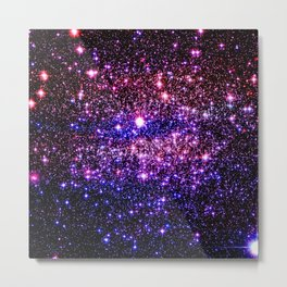 Pink Purple Blue Stars Metal Print