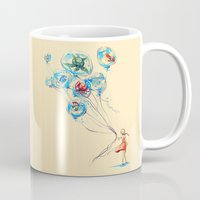 god Mugs featuring Water Balloons by Alice X. Zhang
