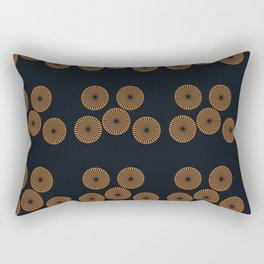 gold Circle Pillow Covers Rectangular Pillow