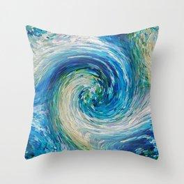 Wave to Van Gogh III Throw Pillow