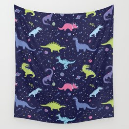 Dinosaurs in Space Wall Tapestry