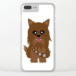 Chewbacca the Yorkie Clear iPhone Case