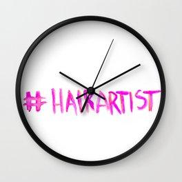 #Hairartist (Pink) Wall Clock