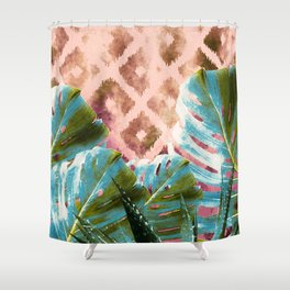 Tribal tropic Shower Curtain