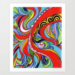 Tentacles 1 Art Print