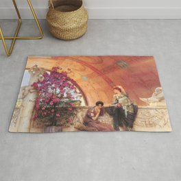 Unconscious Rivals 1893 by Sir Lawrence Alma Tadema | Reproduction Rug