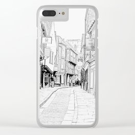 The Shambles in York City Clear iPhone Case