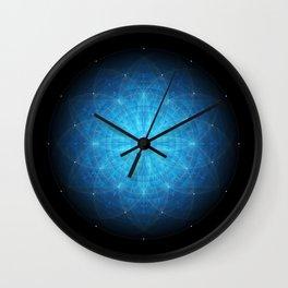 crystal mind. sacred geometry mandala Wall Clock