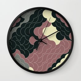 Abstract Geometric Artwork 91 Wall Clock