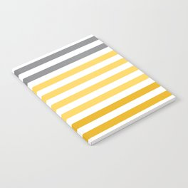 Stripes Gradient - Yellow Notebook