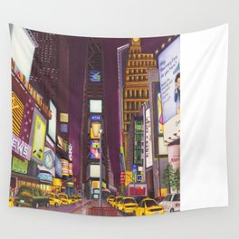 """""""Times Square at Night"""" Wall Tapestry"""
