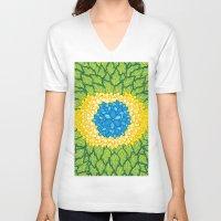 brasil V-neck T-shirts featuring Brasil Estampa by Henrique Abreu