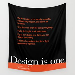 Design is One — Honoring Massimo Vignelli Wall Tapestry