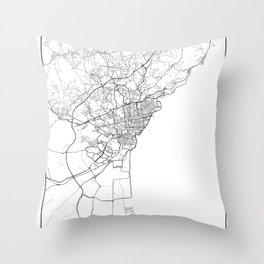 Minimal City Maps - Map Of Catania, Italy. Throw Pillow