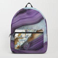 Purple Agate Slice Backpack