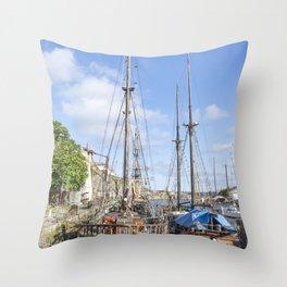 Charlestown port Throw Pillow