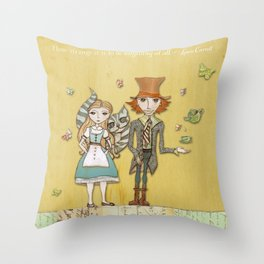 How Strange It Is - Alice in Wonderland Throw Pillow