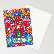 A really colourful skull Stationery Cards