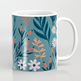 Beautiful Springtime Garden Daisy And Tulip Pattern Coffee Mug