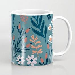 Beautiful Springtime Garden Daisy And Tulip Pattern Coffee Mug