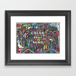 color your mind by Astorg Audrey Framed Art Print