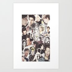 ONE DIRECTION LOUIS TOMLINSON - COLLAGE1 Art Print