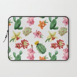 Watercolor Cacti Pattern Laptop Sleeve