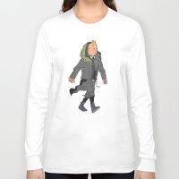 tintin Long Sleeve T-shirts featuring Goth Ninja Tintin by Derek Boman
