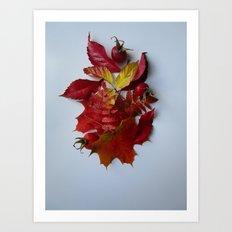 Pile of Autumn Art Print