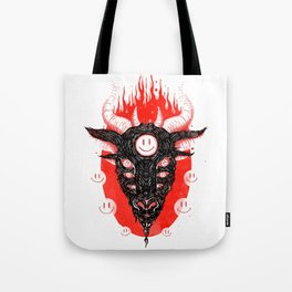 Smiley Baphomet Tote Bag