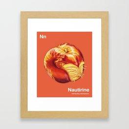 Nn - Nautirine // Half Nautilus, Half Nectarine Framed Art Print