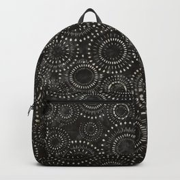 Black and White Circles Watercolor Pattern Backpack