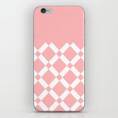 Abstract geometric pattern - pink and white. iPhone Skin
