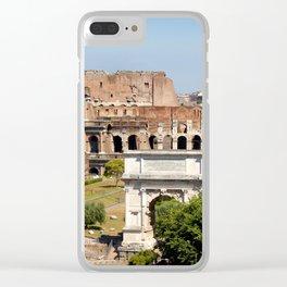 The Coliseum Rome Clear iPhone Case