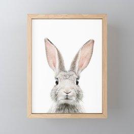 Bunny face Framed Mini Art Print